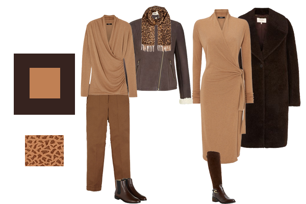 how to wear chocolate and camel, autumn trend colours