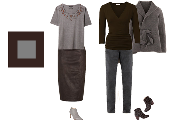 how to wear chocolate and grey, autumn trend colours