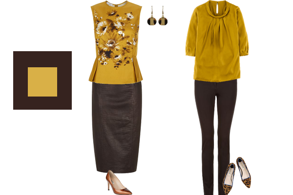 how to wear chocolate and mustard, autumn trend colours
