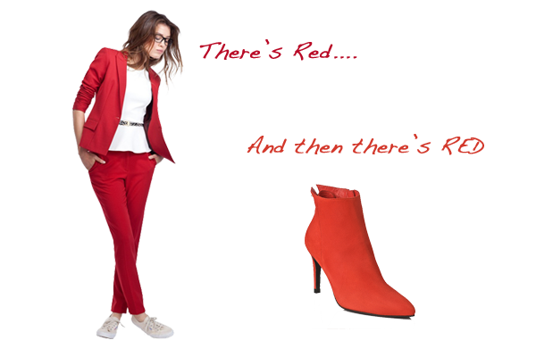how to wear red, autumn trends