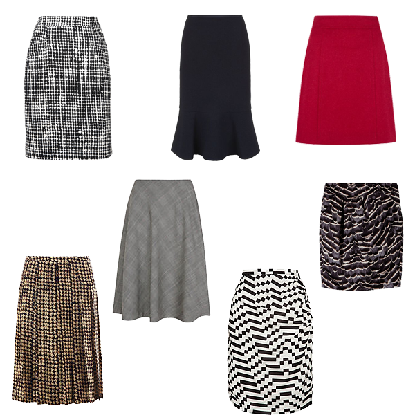 which skirt shape to wear, capsule wardrobe piece skirts