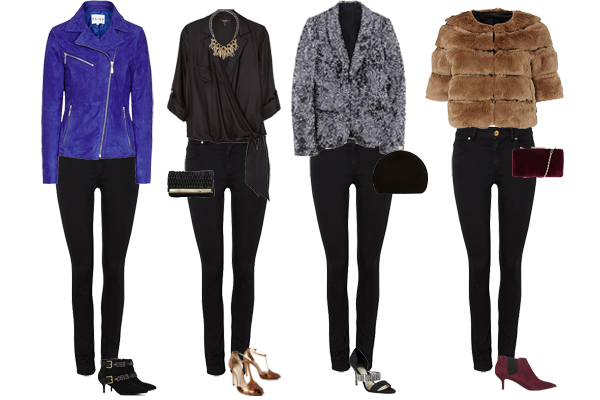 One pair of jeans 4 ways