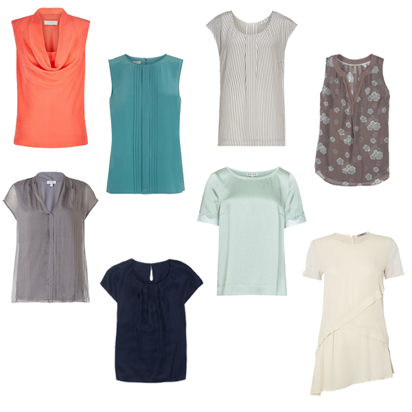 Capsule wardrobe, Tops for capsule wardrobe,