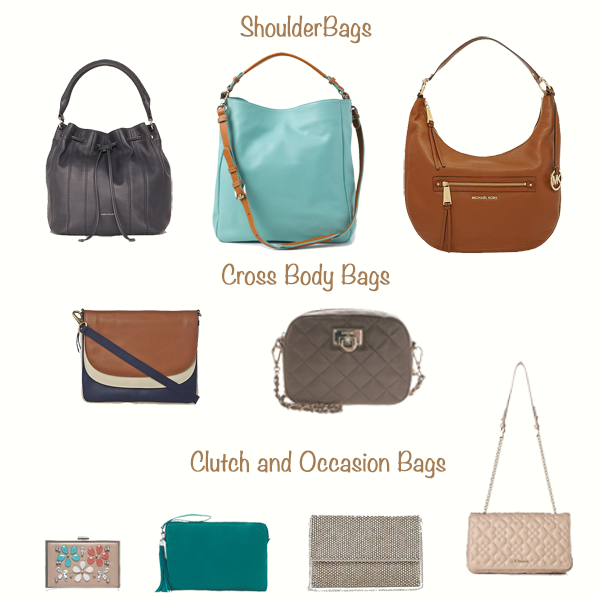 Capsule wardrobe accessories, choosing bags
