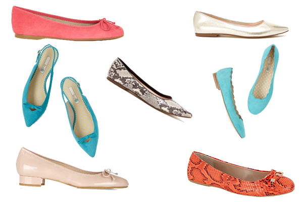 Capsule wardrobe shoes, Ballet pumps and flat shoes