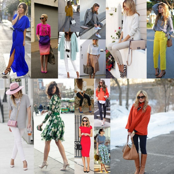 wearing colour