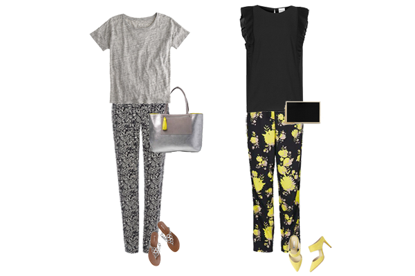 How to wear print trousers