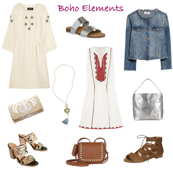 How to wear the boho trend white dress