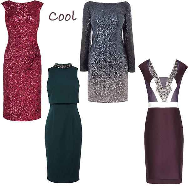 Party dresses for cool colouring