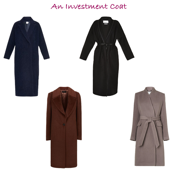 what to buy in the sales, investment coats
