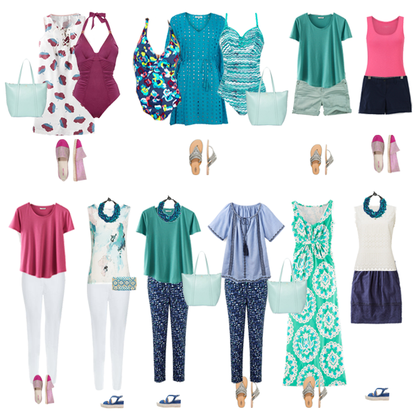 Holiday capsule wardrobe, summer capsule wardrobe,