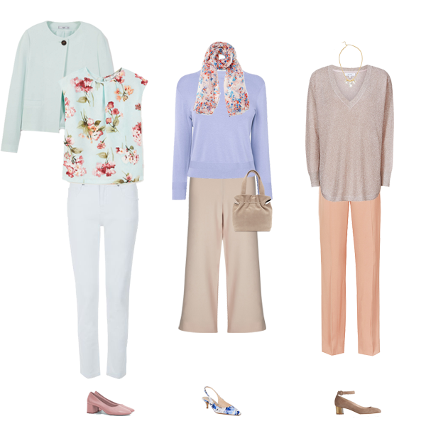 How to wear, Spring pastels, Trouser suits,