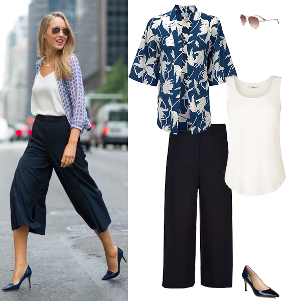 summer outfit inspiration, how to wear culottes
