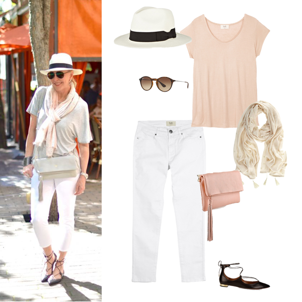 Summer outfits, how to wear white jeans,