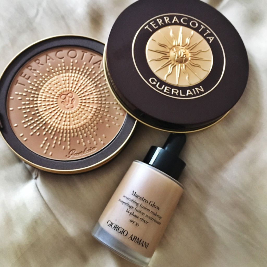 Summer foundation and bronzer