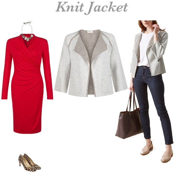 How to wear a knit jacket