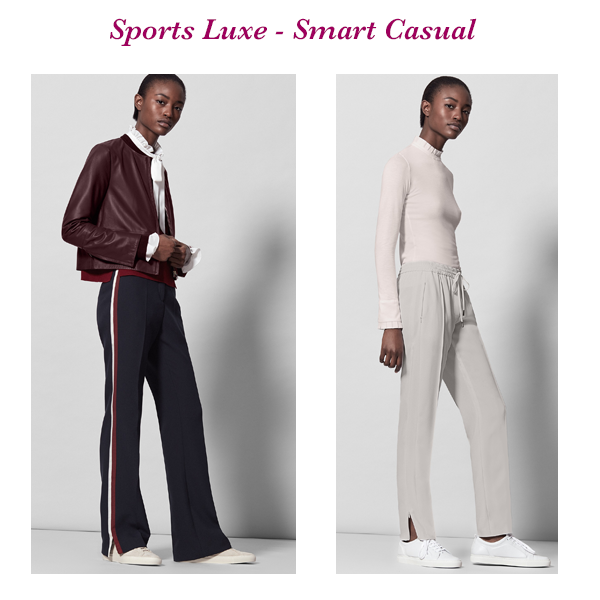 How to wear sports luxe trousers