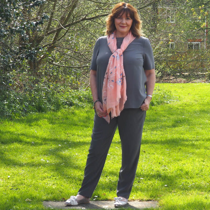 how to style sporty silk trousers