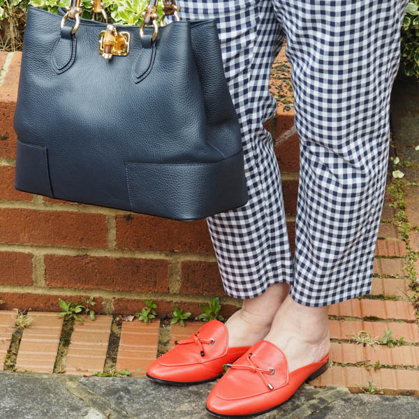capsule accessories, gingham trousers