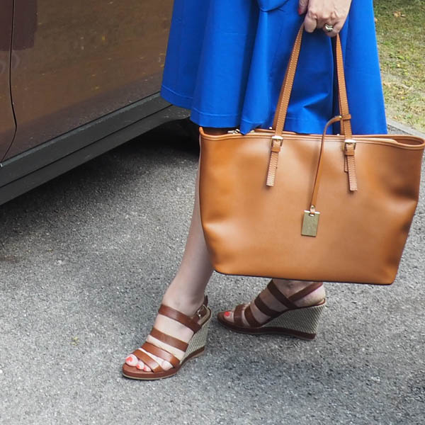 Saffron leather tote bag