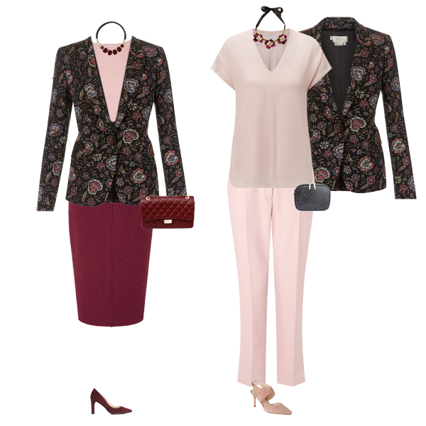 How to wear a floral blazer