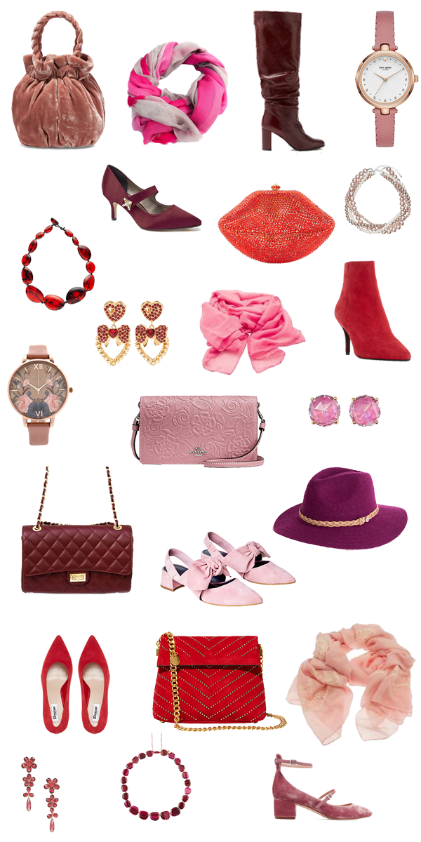 Pink and red accessories, how to accessories