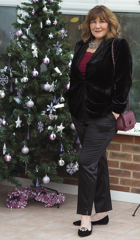 What to wear at Christmas, Velvet jacket