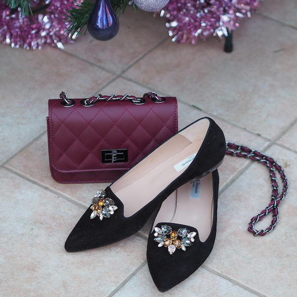What to wear at Christmas, embellished accessories