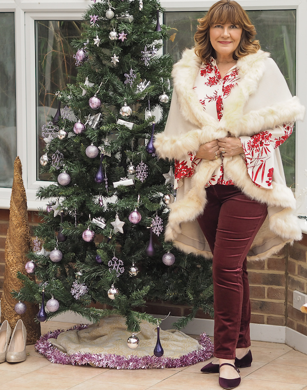 What to wear at Christmas, velvet shoes