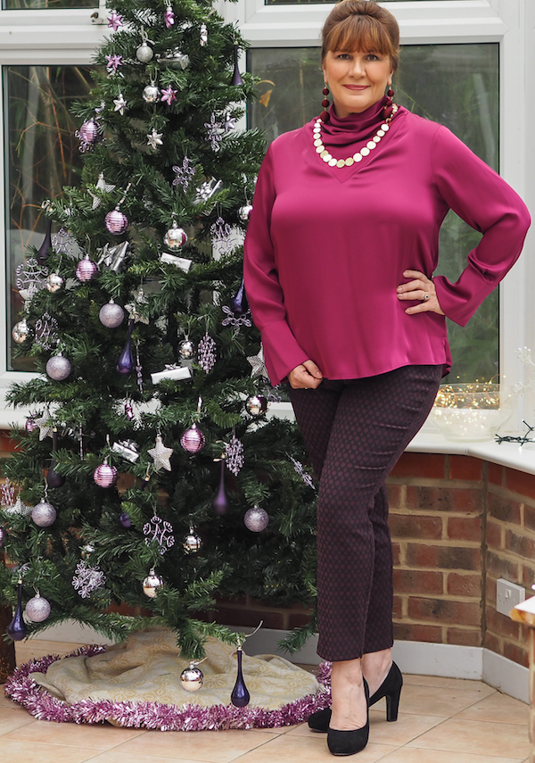 What to wear at Christmas, satin blouses