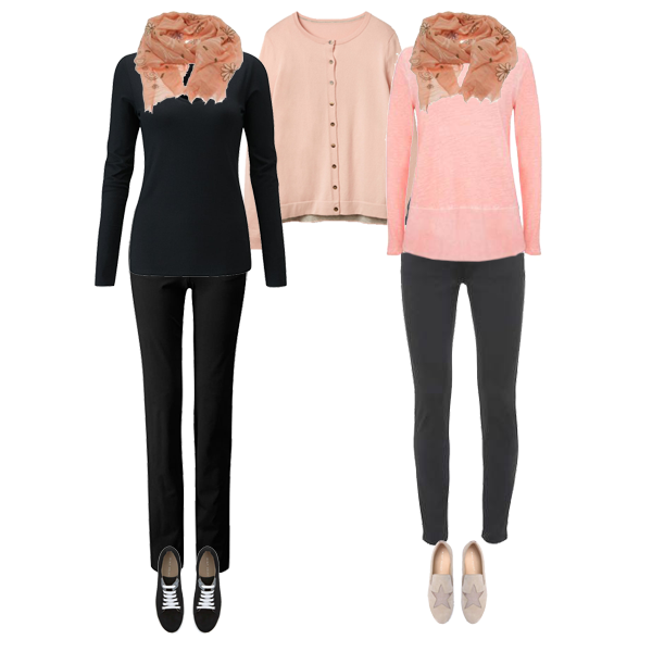 How to wear black, Soft colouring