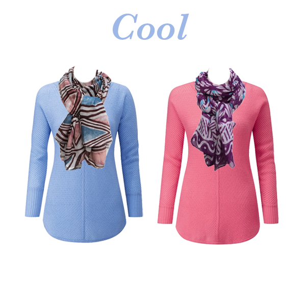 Knits and scarves to suit your colouring