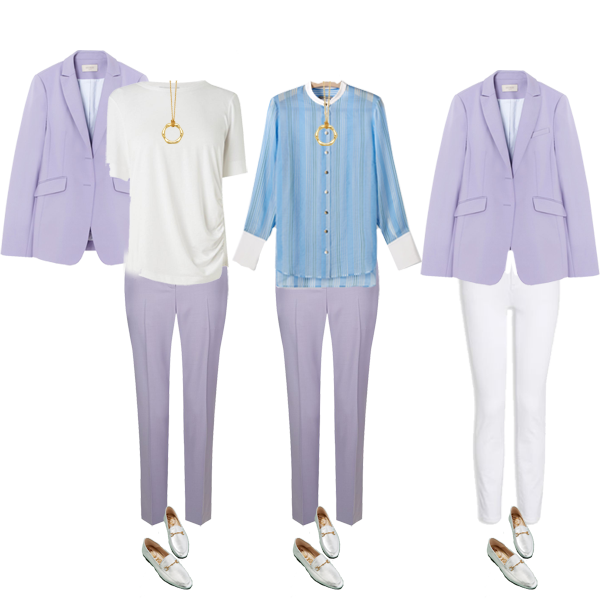 How to style a pastel suit
