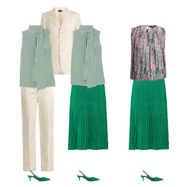 trouser suit capsule wardrobe