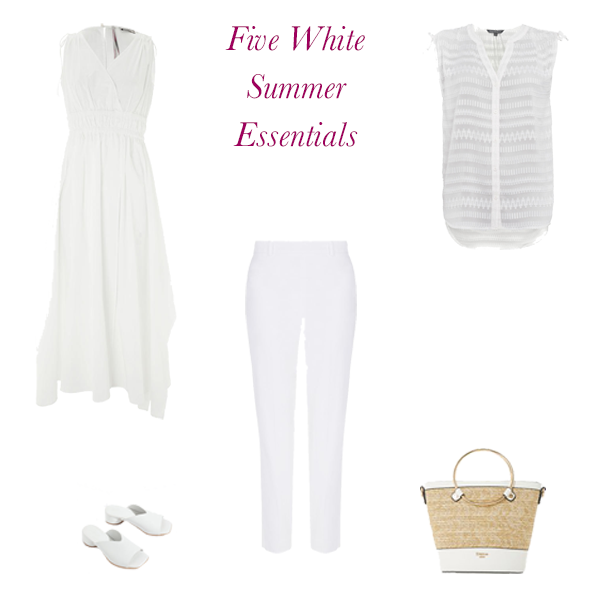 white summer wardrobe essentials