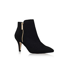 transitional ankle boots, black suede kitten heel boots