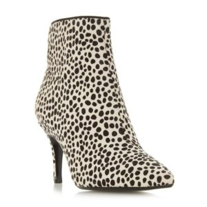 transitional ankle boots, Dune cheetah print boots