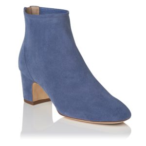 transitional ankle boots, LK Bennett blue suede ankle boots