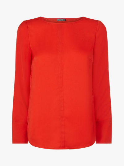how to wear colour, bright red top