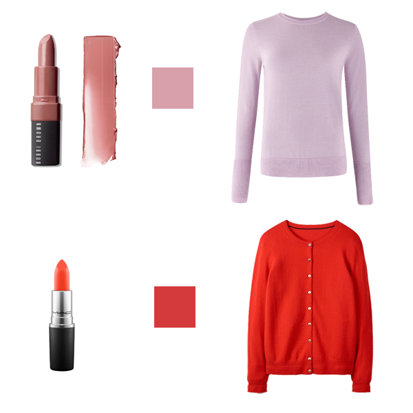 lipstick to suit your colouring, light dominant