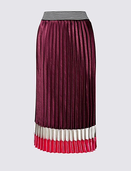 pleated skirts to suit your shape, m&S plum pleat skirt