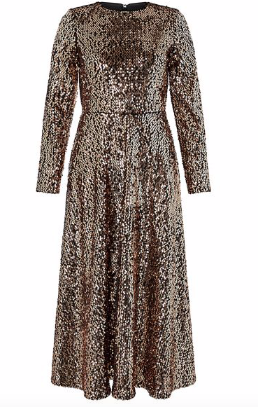 best party dresses and jumpsuits, gold sequin long sleeve dress