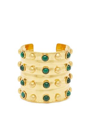 Evening bags, jewellery and cover ups, Sylvia Toledano Green stone cuff
