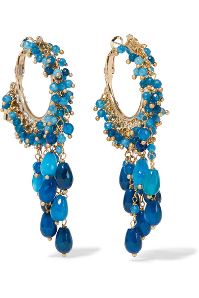 Evening bags, jewellery and cover ups, Rosantica blue stone hoop earrings