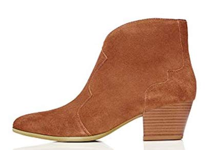 where to buy fashion on a budget, Amazone private label, tan suede cowboy ankle boots