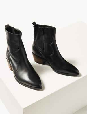 10 new in must buys, Marks and Spencer, black cowboy ankle boots