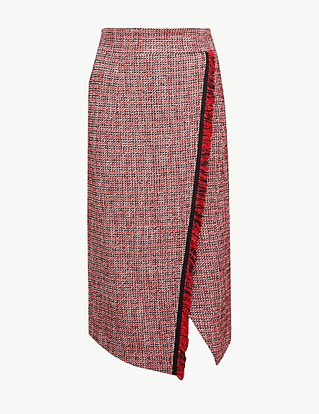 10 new in must buys, Marks and Spencer tweed asymmetric skirt