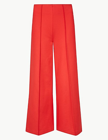 10 new in must buys, Marks and Spencer red cropped trousers