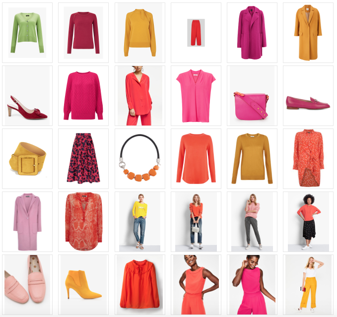 Add colour to your wardrobe, new season pieces in bright colours