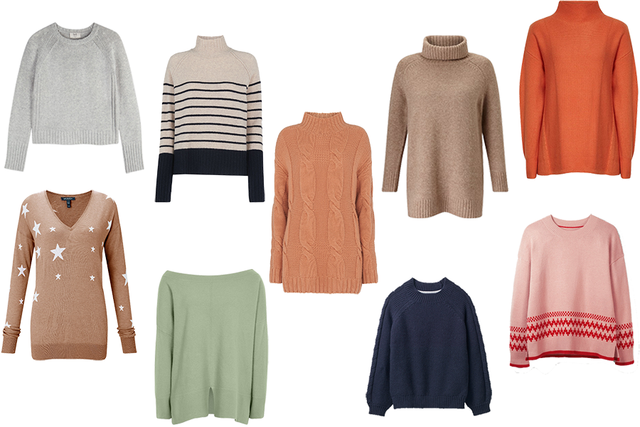 capsule wardrobe updates, cosy winter sweaters